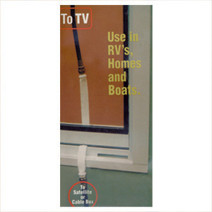 how to get coax through a window