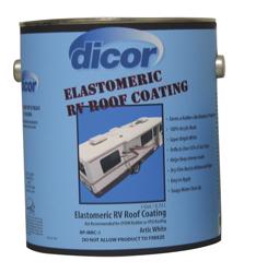 Dicor Metal Fiberglass Elastomeric Rv Roof Coating