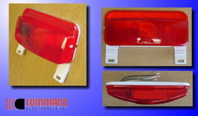 Command Surface Mount Taillight W License Bracket
