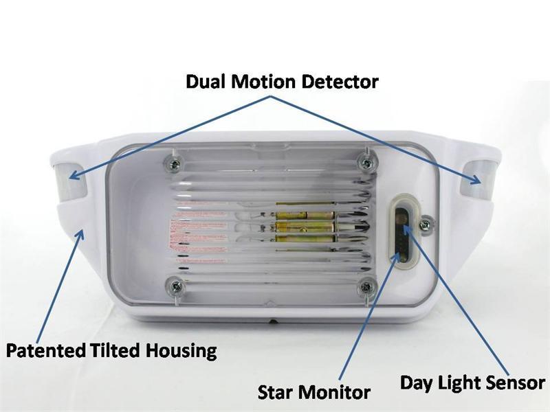 motion sensing porch light starlights motion activated lights. Black Bedroom Furniture Sets. Home Design Ideas