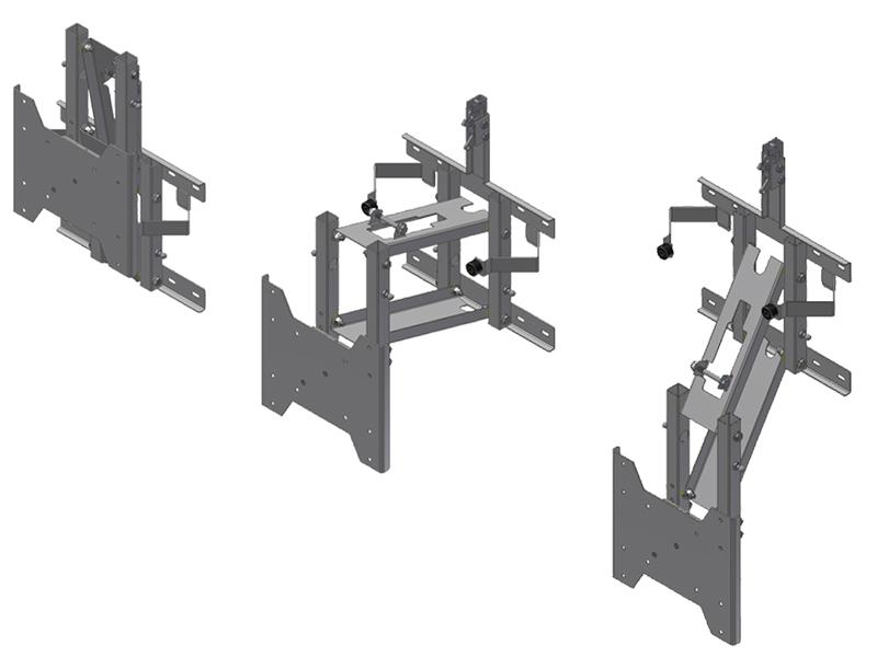 morryde tv56 129h drop down tv wall mount. Black Bedroom Furniture Sets. Home Design Ideas