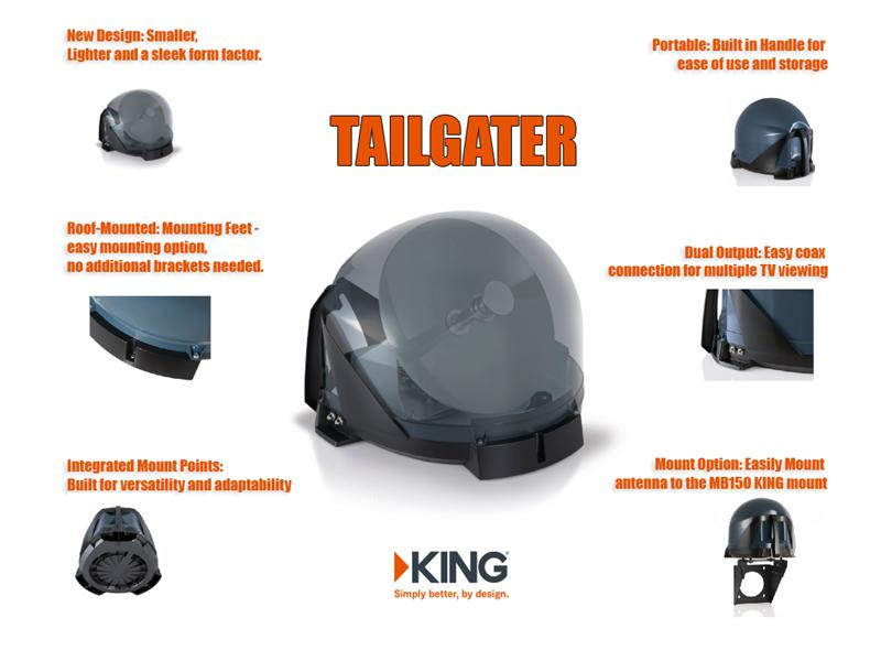 King Controls Vq4500 Tailgater Combo W Wally Receiver