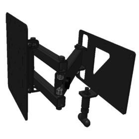 Morryde tv mount double swing arm for Motorized swing arm tv mount