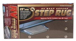 Wrap-Around Step Rug, Brown, 23