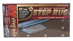 XL Wrap-Around Step Rug, Brown