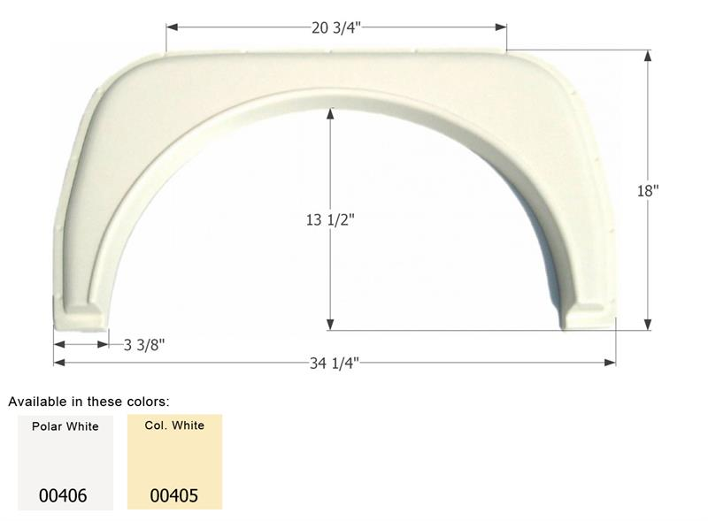 Icon Technologies Fs380 Single Fender Skirts