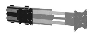 Morryde tv40 011h interior slide out tv mount - Vertical sliding tv wall mount ...