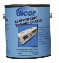 Dicor Metal Fiberglass Elastomeric Rv Roof Coating