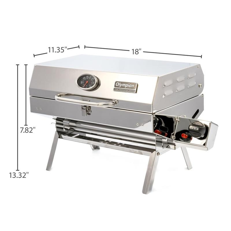 Camcorv Olympian 5500 Stainless Steel Barbeque Grill