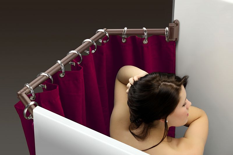 Extend A Shower Curtain Rod Fits 35 To 42 Oil Rubbed Bronze Finish
