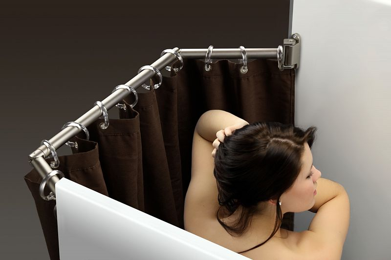 Stromberg Carlson EXT 3542S Extend A Shower Curtain Rod Drip Rack Fits 35 To 42 Satin Finish