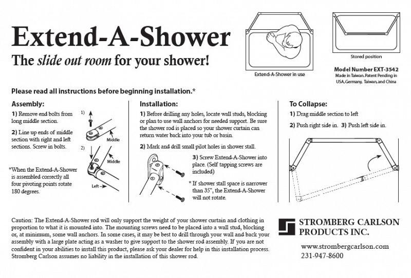Stromberg Carlson Extend-A-Shower RV Curtain Rod/ Drip Rack