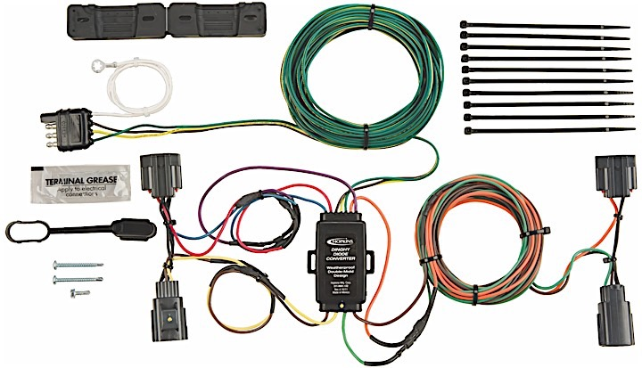hopkins 56200 towed vehicle wiring kit custom fit 2007-2017 jeep wrangler