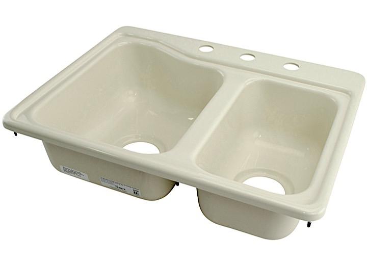 Lippert Components 209404 Better Bath Double Kitchen Sink 25\