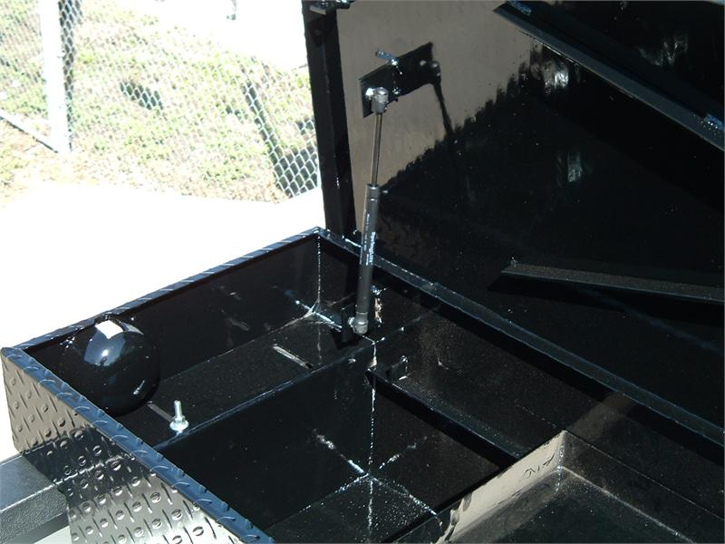 Ranch Hand Diamond Plated Toolboxes - Gloss Black Powder