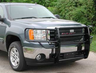 Ranch Hand Legend Series Grill Guards - High-Gloss Black Powder Coat Finish