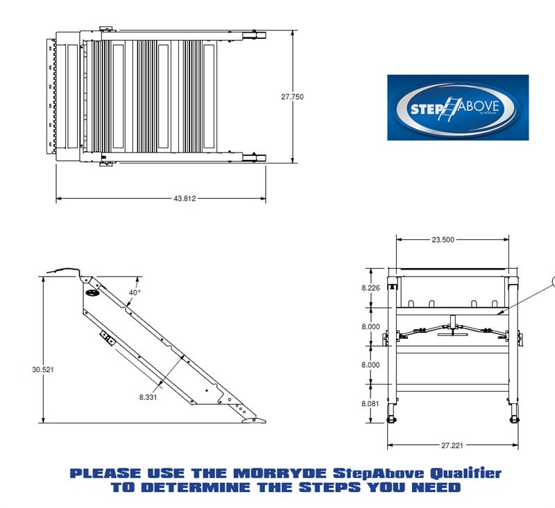 MorRyde STP-3-30-03H Folding Entry 3 Step