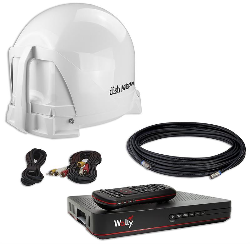 Satellite Tv For Rv >> Dish Vq4450r Refurbished Tailgater Bundle Portable Satellite Tv Antenna New Wally Hd Receiver