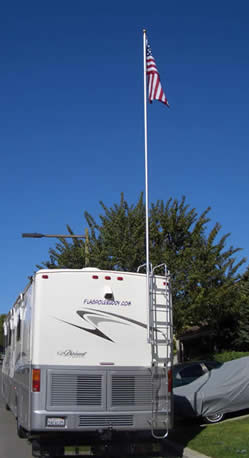 16 Extended Flagpole Buddy Kit W Flag Great For Your Rv