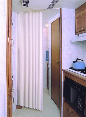 & United Shade PFDW36H80 Interior Door Pleated Fabric Doo