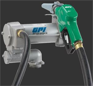 GPI Liquid Transfer Tank Pump 25 GPM Tank Mount Electric 18' Hose 18' Power  Cord